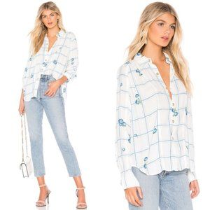 Free People Window To My Heart Button Down, Size M